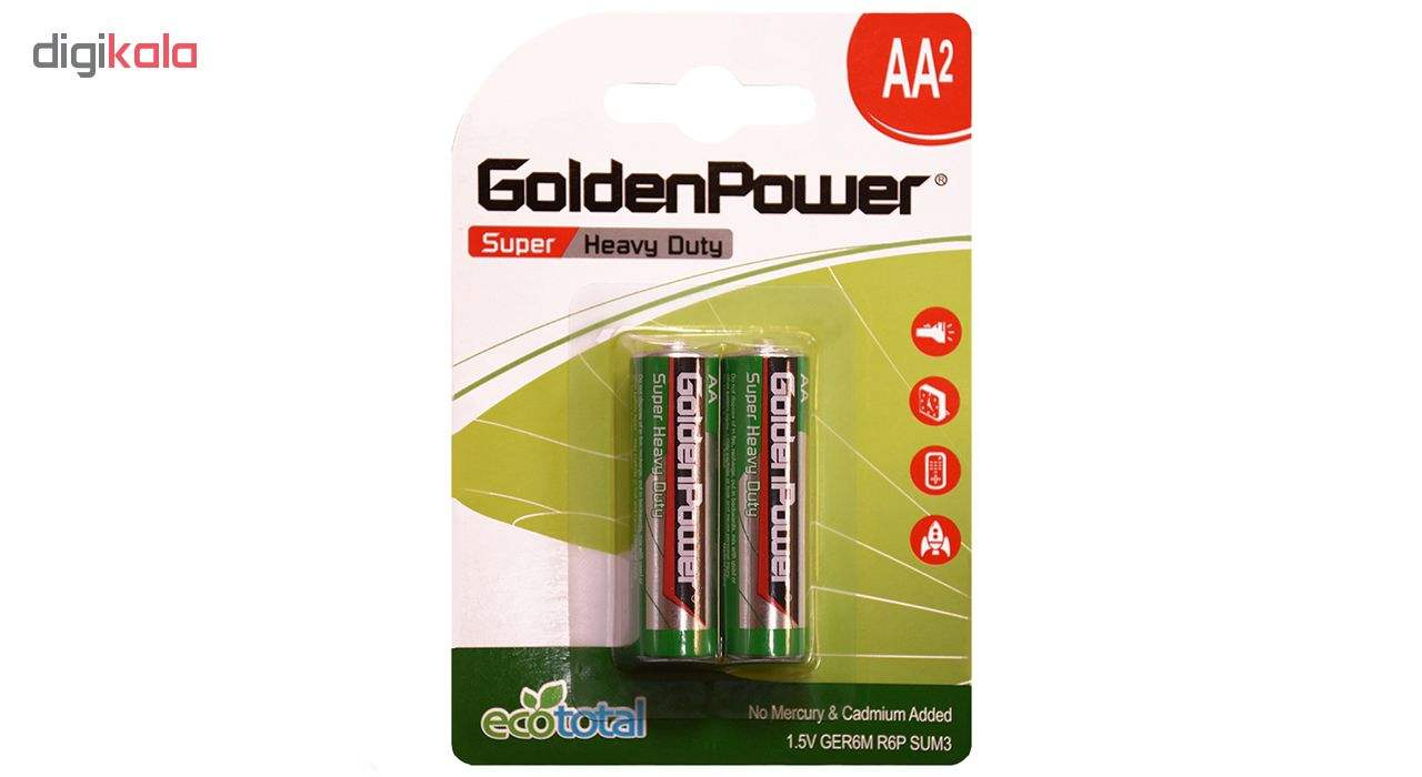 باتری قلمی گلدن پاور مدل Eco Total Super Heavy Duty بسته 2 عددی main 1 1