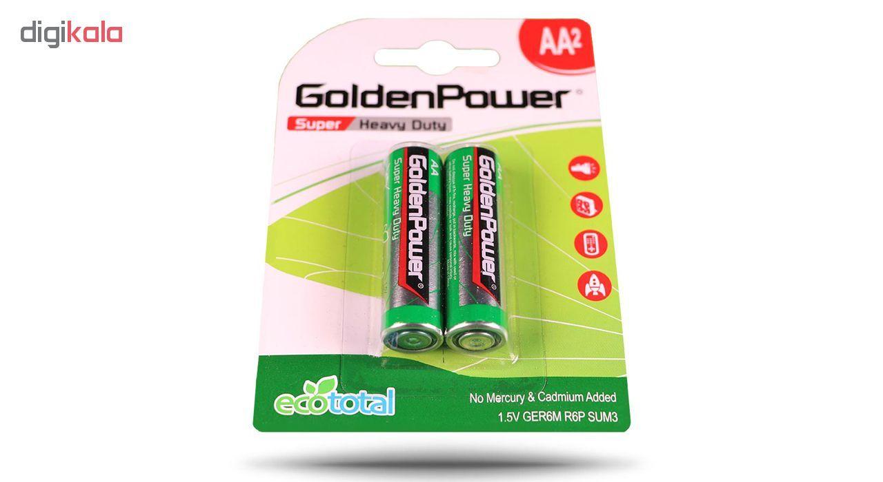 باتری قلمی گلدن پاور مدل Eco Total Super Heavy Duty بسته 2 عددی main 1 2