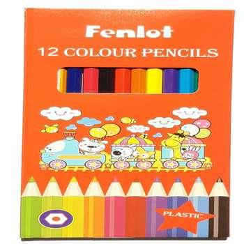 مداد رنگی 12 رنگ فنلوت مدل FCP02