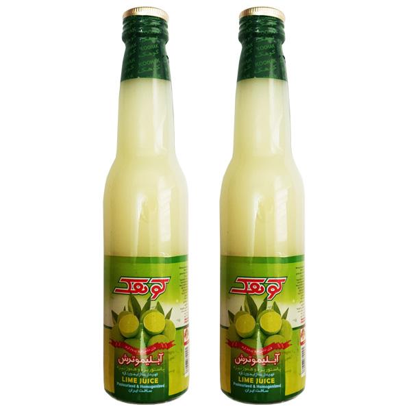 آب لیمو کوهک حجم 260 میلی لیتر بسته دو عددی