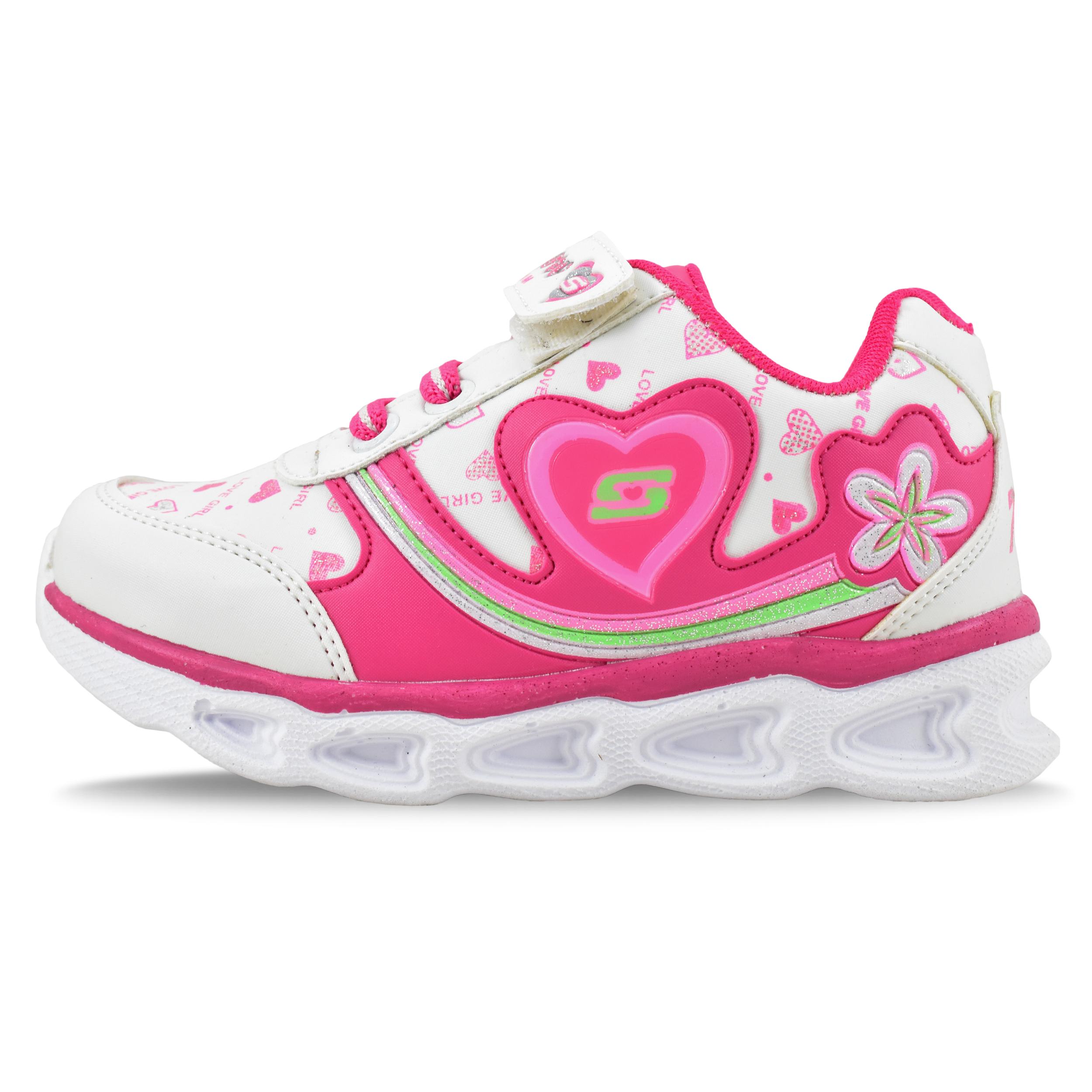 عکس کفش مخصوص پیاده روی دخترانه مدل رنگین کمان کد 4537