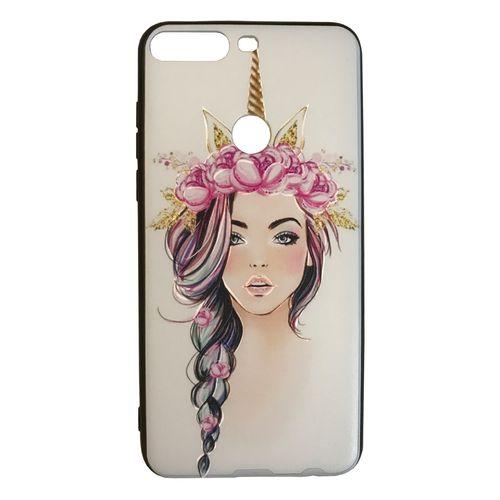 کاور طرح دختر مدل J0158 مناسب برای گوشی موبایل هوآوی Y7 2018