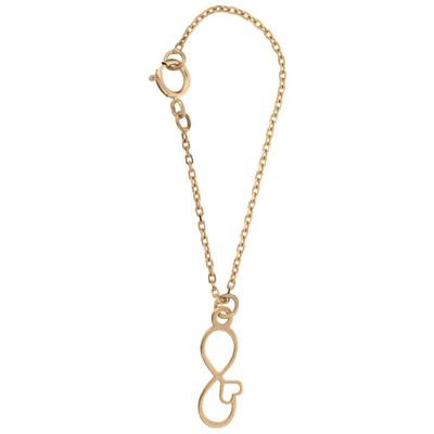 تصویر آویز ساعت طلا 18 عیار زنانه طرح بی نهایت و قلب کد SG326