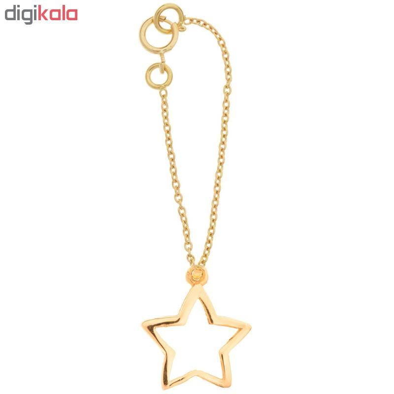 آویز ساعت طلا 18 عیار زنانه طرح ستاره کد SG329