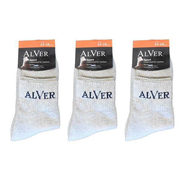 جوراب مردانه آلور کد 002-3 بسته 3 عددی