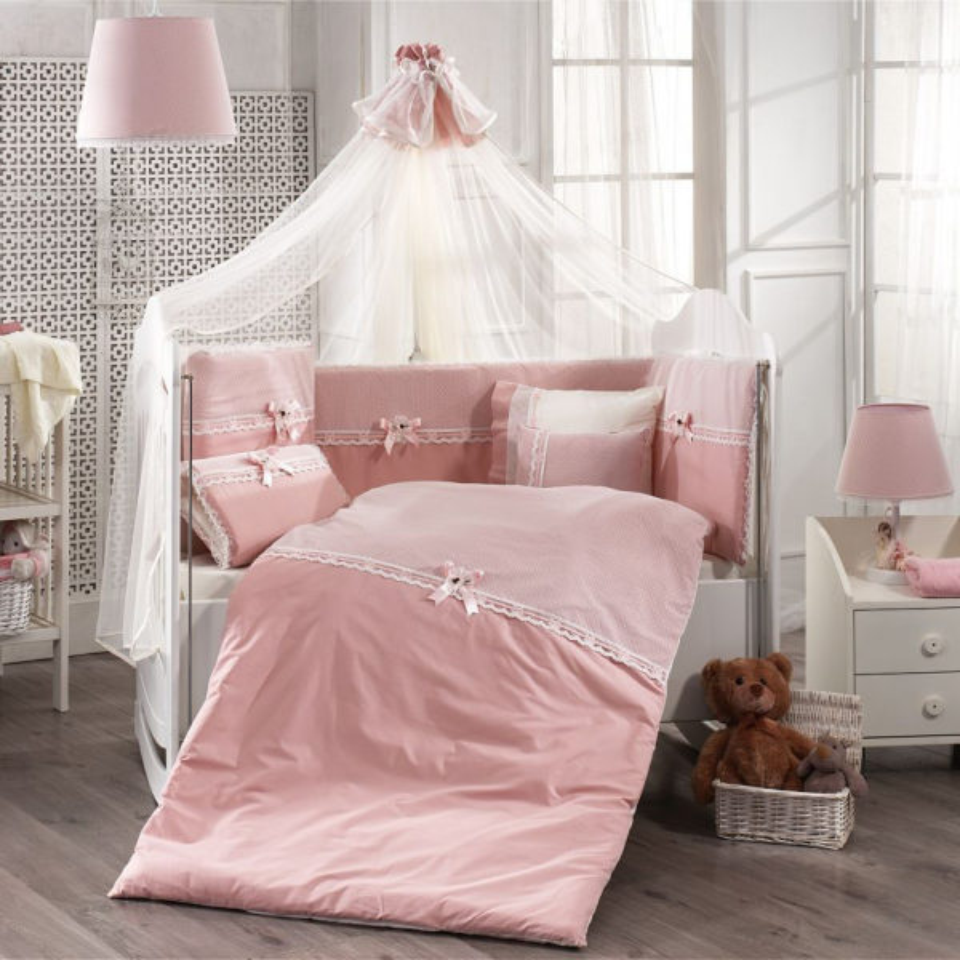 سرویس خواب 9 تکه کودک مامی شاپ طرح رمانتیک