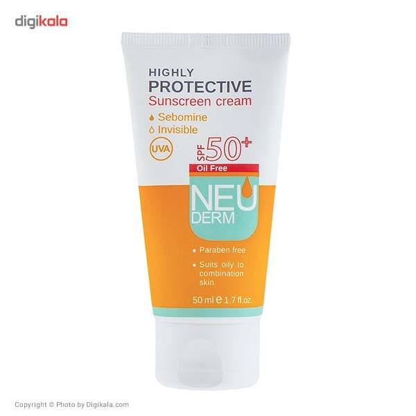 کرم ضد آفتاب نئودرم مدل Highly Protective SPF50 حجم 50 میلی لیتر main 1 1