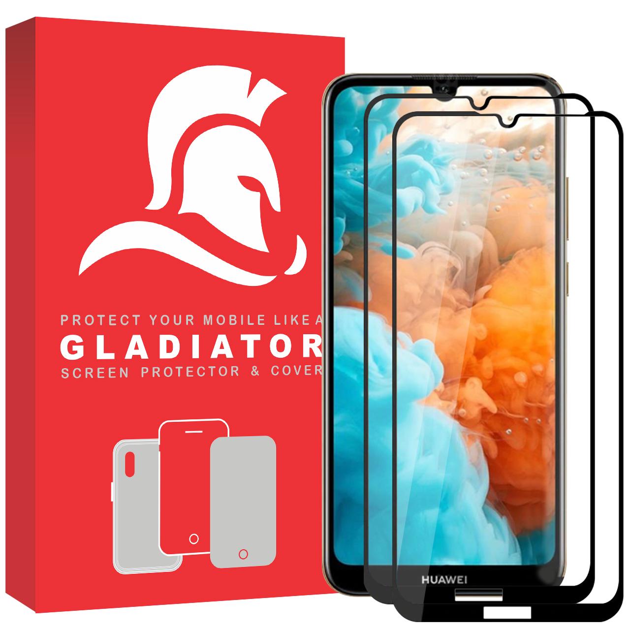 محافظ صفحه نمایش گلادیاتور مدل GPH2000 مناسب برای گوشی موبایل هوآوی Y7 Prime 2019 بسته دو عددی