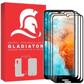 محافظ صفحه نمایش گلادیاتور مدل GPH3000 مناسب برای گوشی موبایل هوآوی Y7 Prime 2019 بسته سه عددی