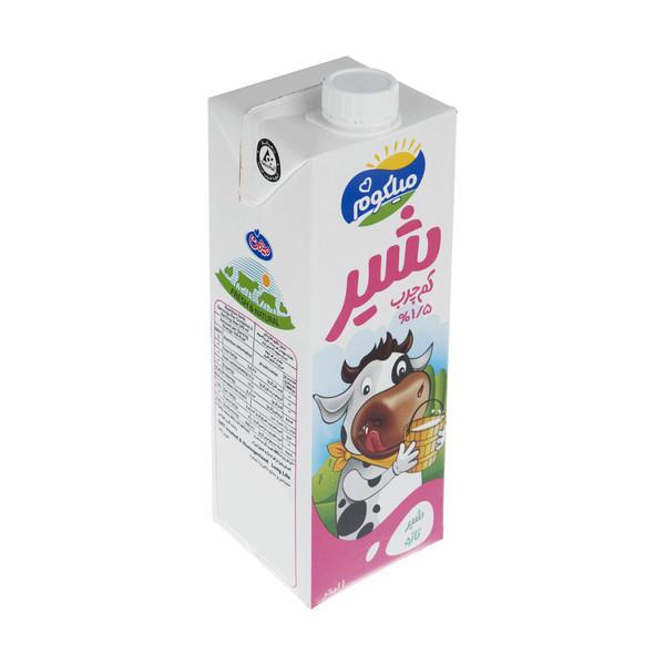 شیر کم چرب میهن مدل میلکوم حجم 1 لیتر