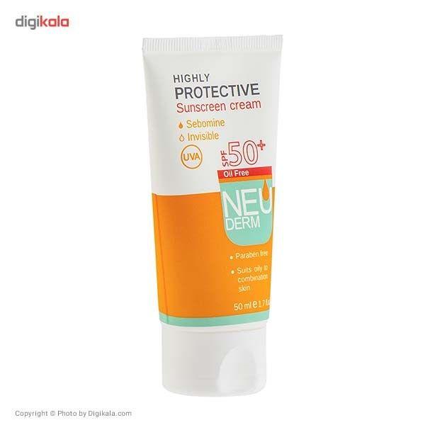 کرم ضد آفتاب نئودرم مدل Highly Protective SPF50 حجم 50 میلی لیتر main 1 2