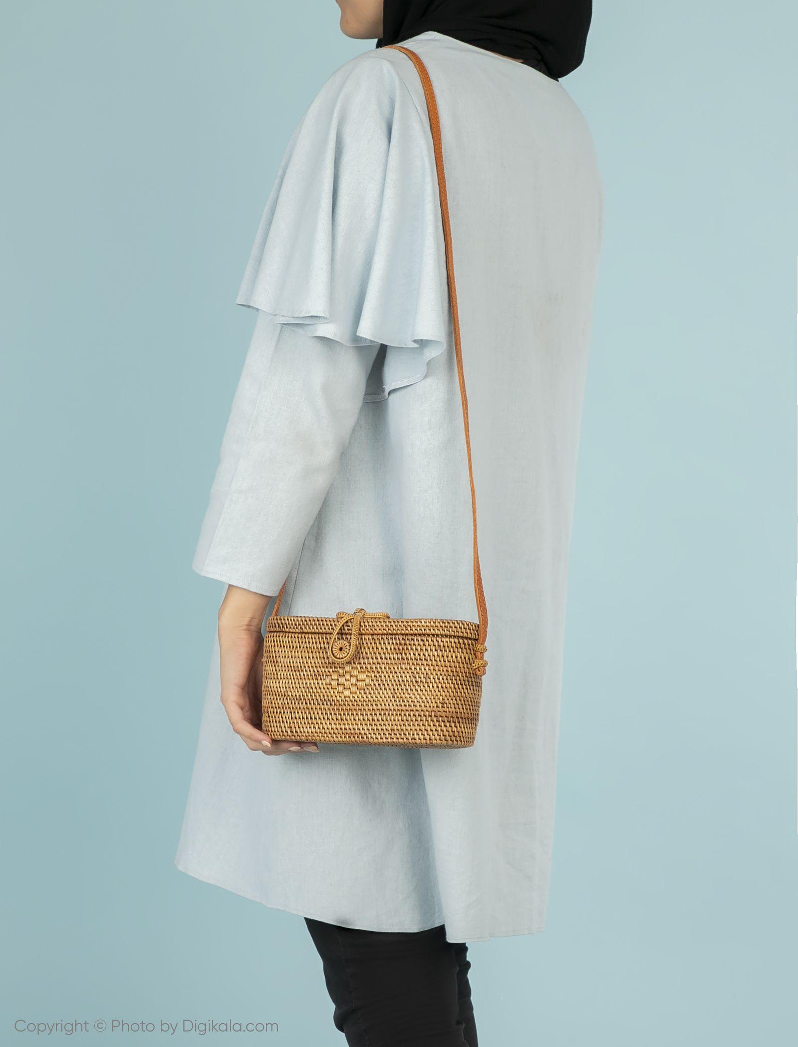 کیف دوشی روزمره زنانه - مانگو تک سایز - بژ - 5