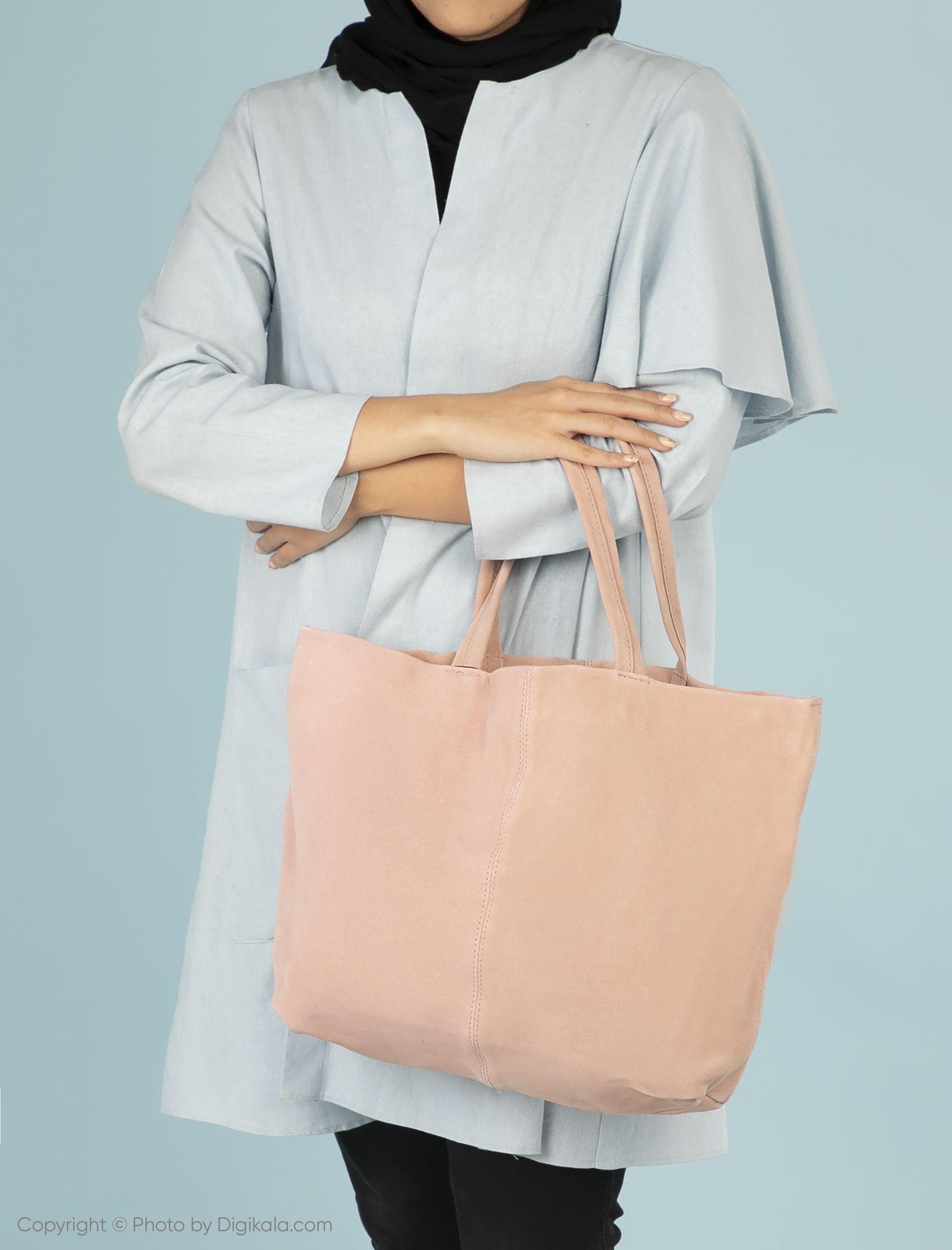 کیف دوشی روزمره زنانه - مانگو - صورتي کم رنگ - 2