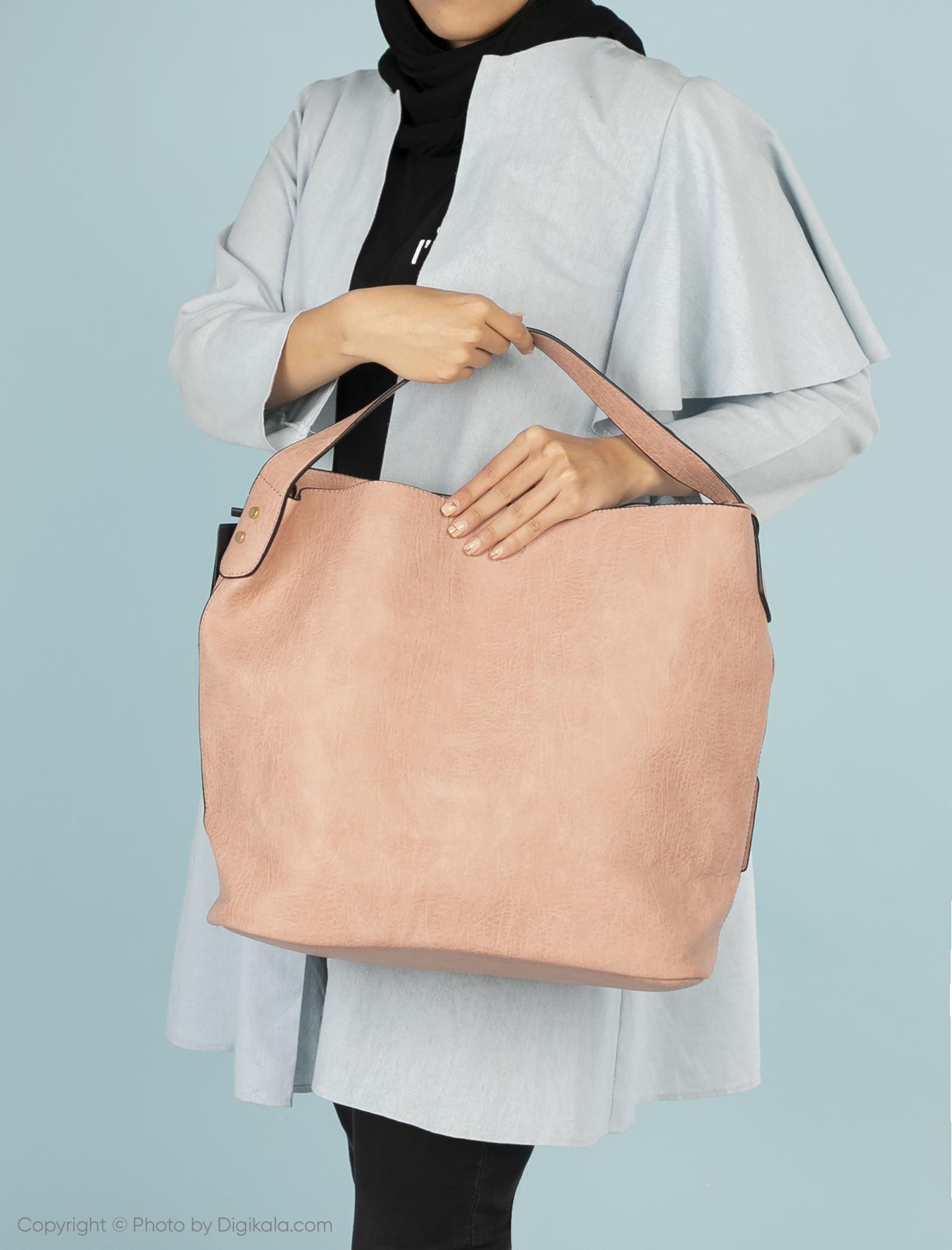 کیف دستی روزمره زنانه - دادلین تک سایز - صورتي - 2