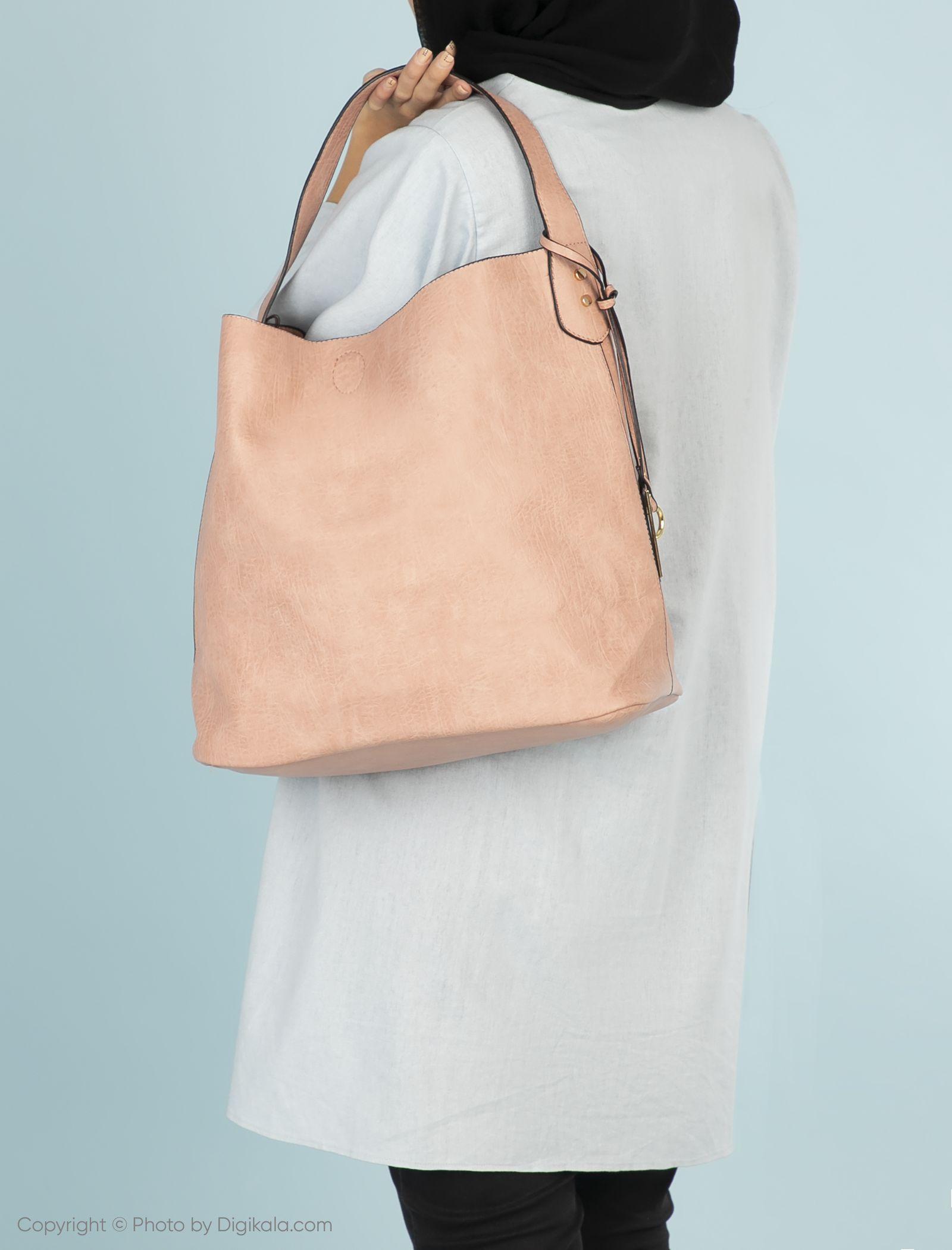 کیف دستی روزمره زنانه - دادلین تک سایز - صورتي - 3