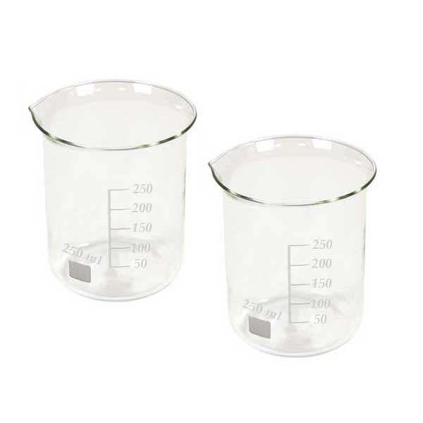 بشر آزمایشگاه مدل beaker ظرفیت 250 میلی لیتر بسته 2 عددی