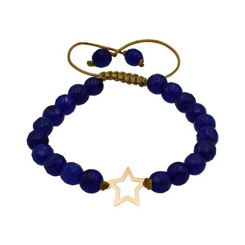 دستبند طلا 18 عیار زنانه آمانژ طرح ستاره کد 396D2785