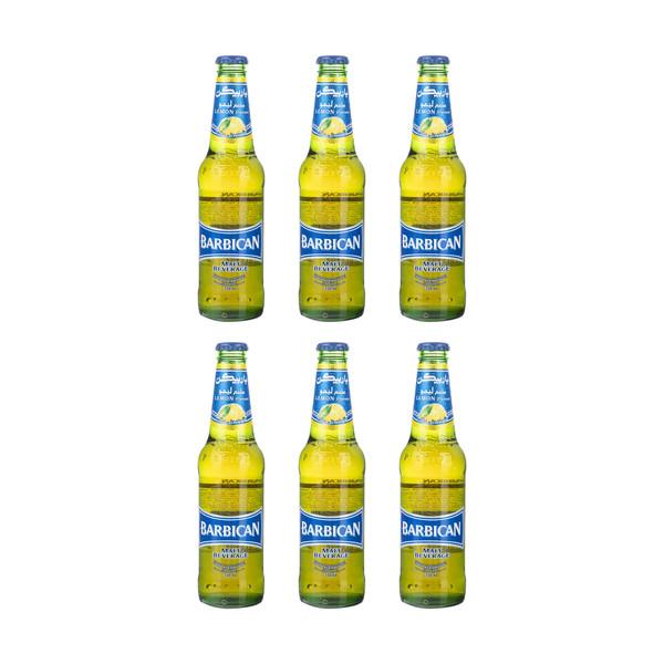 نوشیدنی با طعم لیمو باربیکن حجم 330 میلی لیتر بسته 5 عددی + 1 عدد هدیه