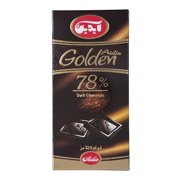 شکلات تلخ 78 درصد آیدین مقدار 100 گرم