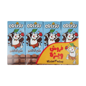 شیر کاکائو روزانه مقدار 200 میلی لیتر بسته 4 عددی