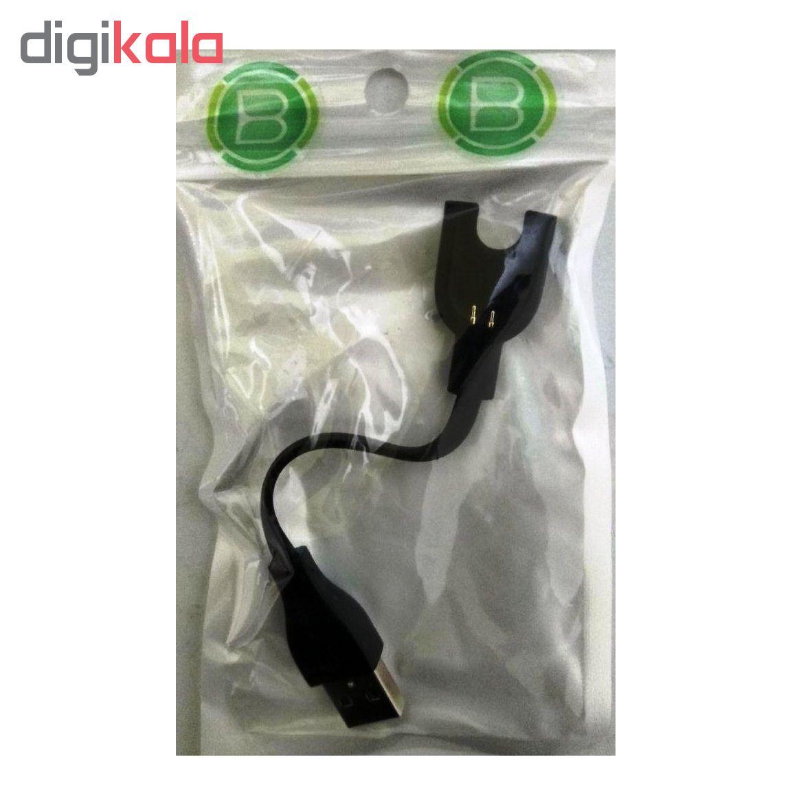 کابل شارژ مدل BB مناسب برای مچ بند هوشمند شیائومی Mi Band 3