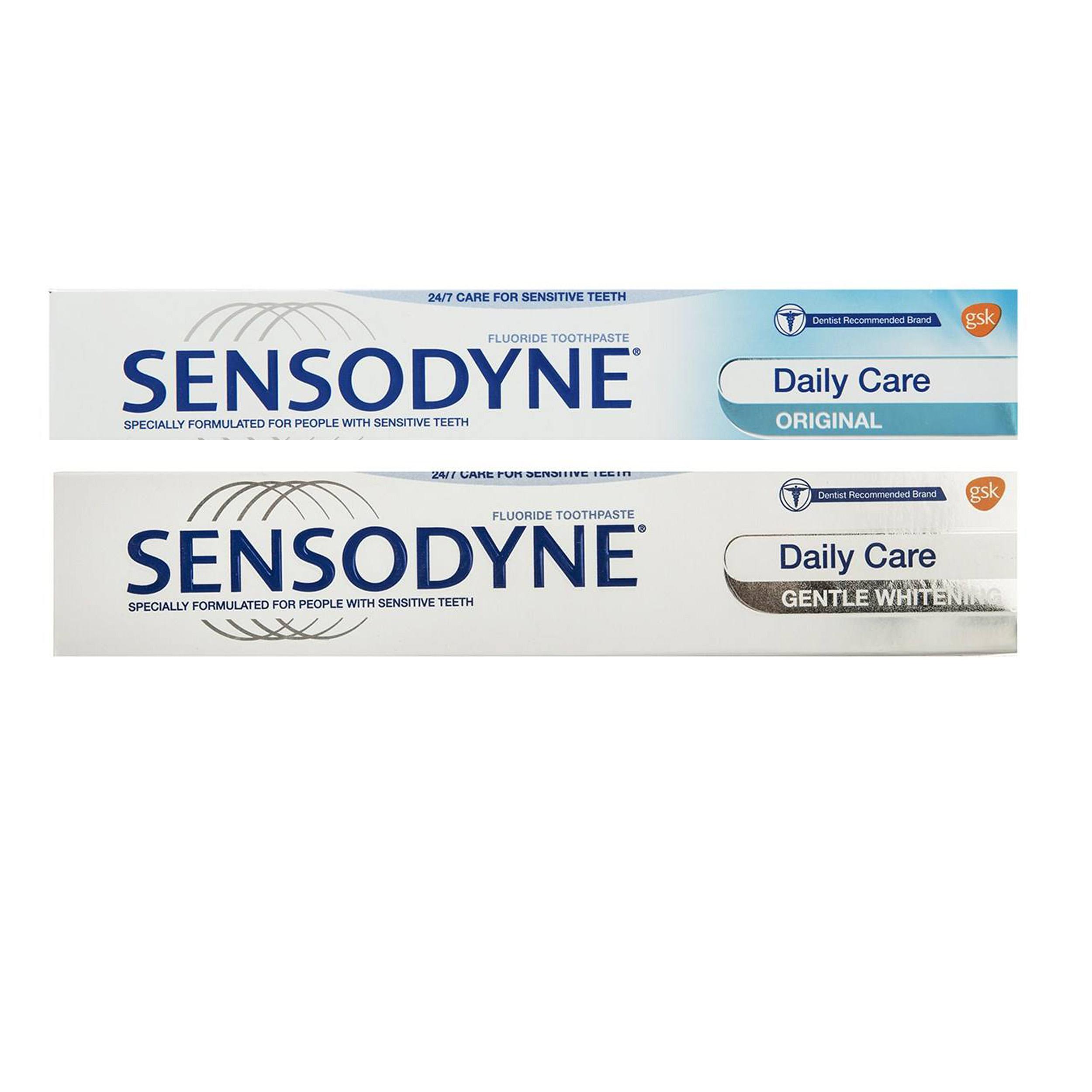 خمیر دندان سنسوداین سری Daily Care حجم 75 میلی لیتر مجموعه 2 عددی