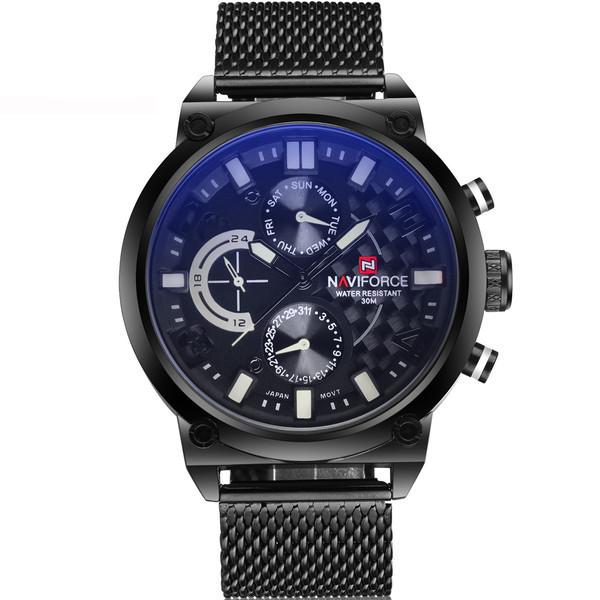 ساعت مچی عقربه ای مردانه نیوی فورس مدل NF9068M-BBW