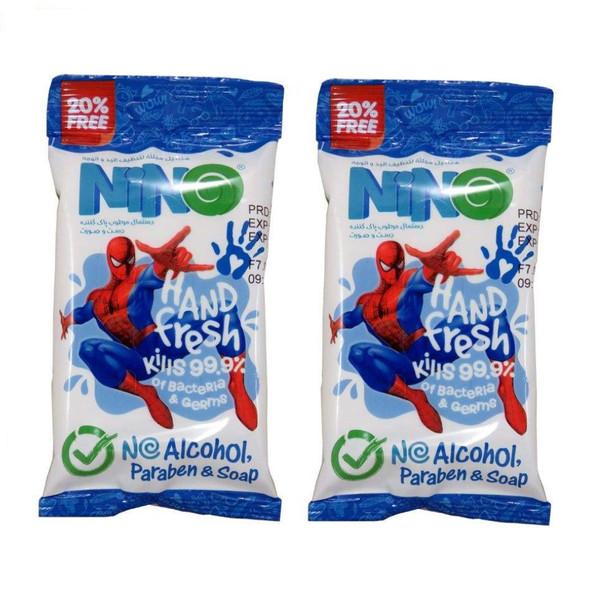 دستمال مرطوب نینو طرح Spider Man مجموعه 2 عددی