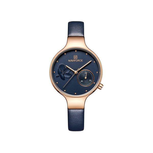 ساعت مچی عقربه ای زنانه نیوی فورس کد NF5001-BL