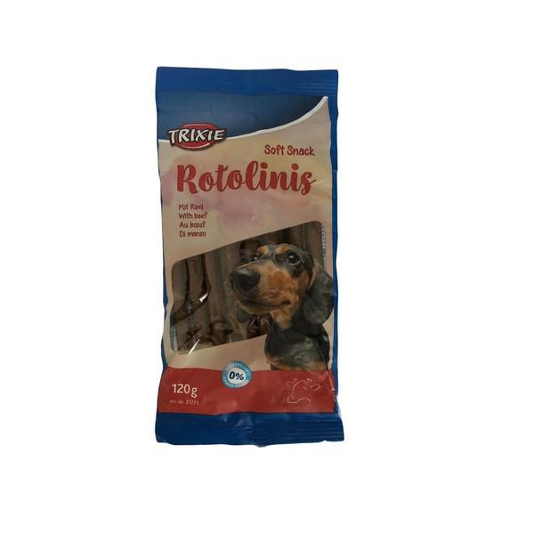تشویقی سگ تریکسی مدل ROTOLINIS SOFT SNACK وزن 120 گرم