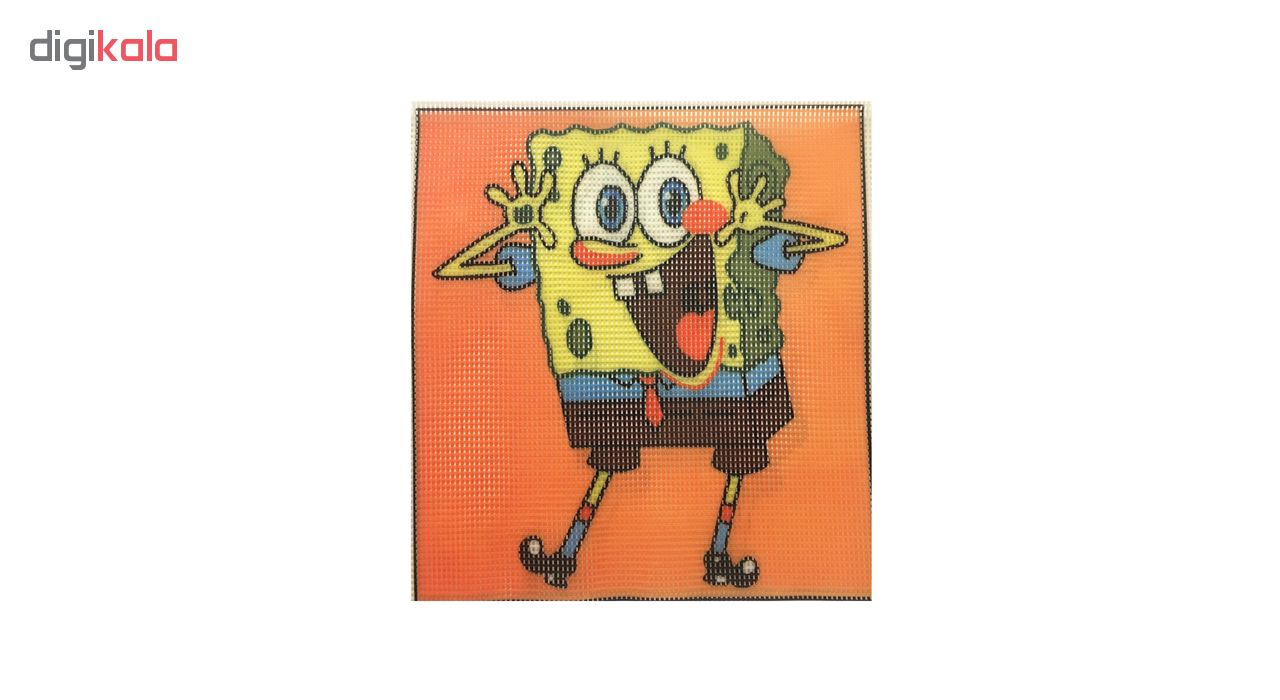 خرید                       کوبلن طرح باب اسفنجی کد 0014 به همراه نخ و سوزن
