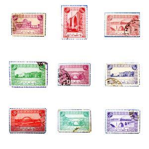 تمبر یادگاری سری دوم پستی کد 0042 مجموعه 9 عددی