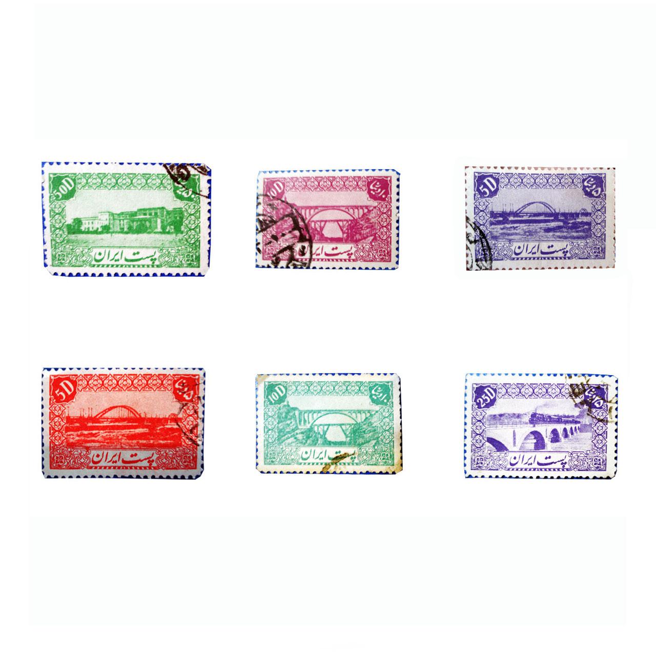 تمبر یادگاری سری دوم پستی کد 421 مجموعه 6 عددی