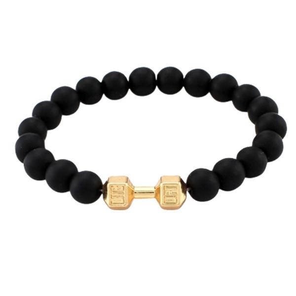دستبند مردانه طرح دمبل کد D-Zh