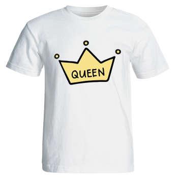 تی شرت آستین کوتاه زنانه طرح تاج کد 8051 |