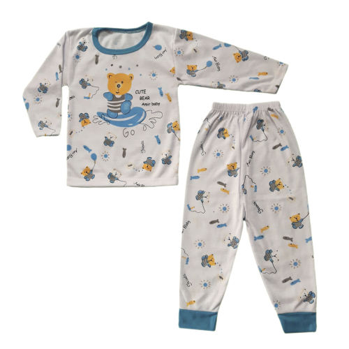 ست تی شرت و شلوار نوزادی طرح خرس کد BL501