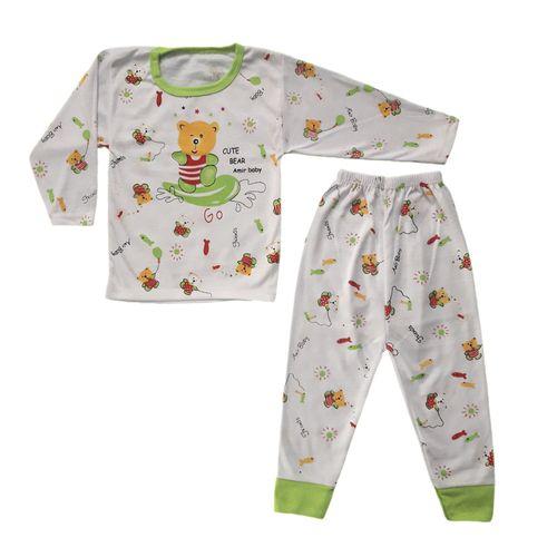 ست تی شرت و شلوار نوزادی طرح خرس کد GR501