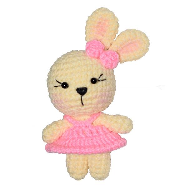 عروسک طرح خرگوش کد 0619-98 ارتفاع 8 سانتی متر
