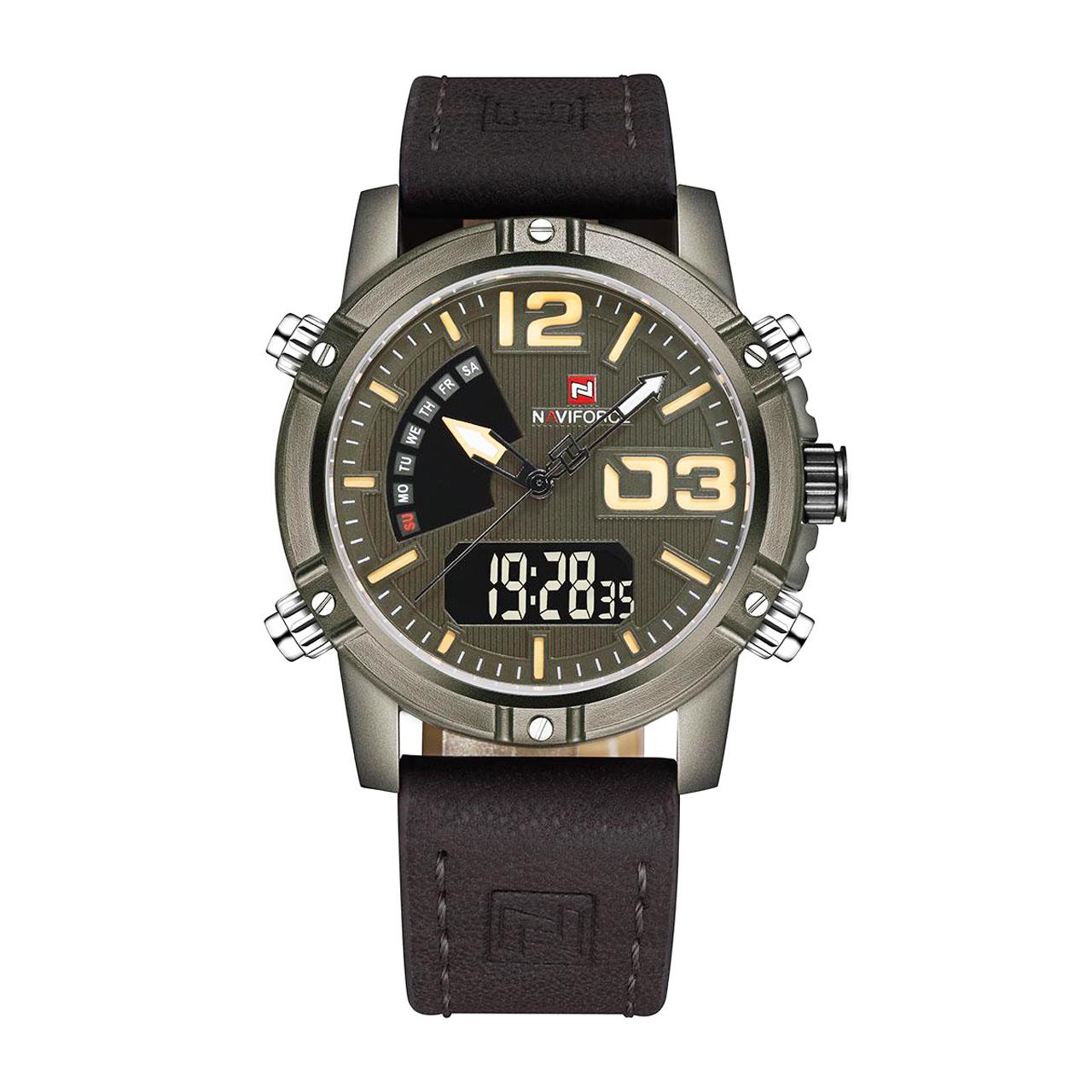 ساعت مچی عقربه ای مردانه نیوی فورس کد NF9095G-2TI