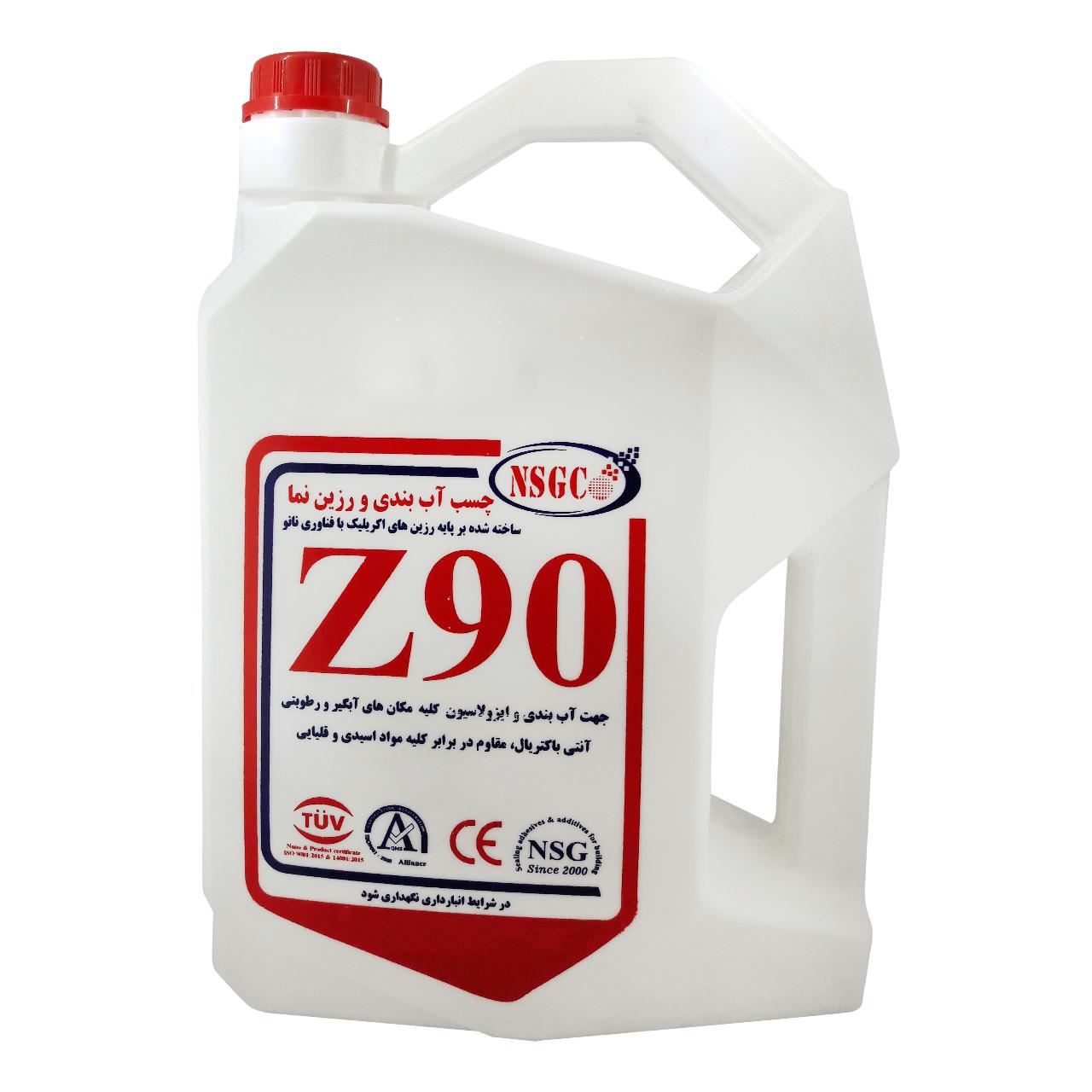 چسب آب بندی و رزین نما ان اس جی مدل Z90 حجم 4 لیتر