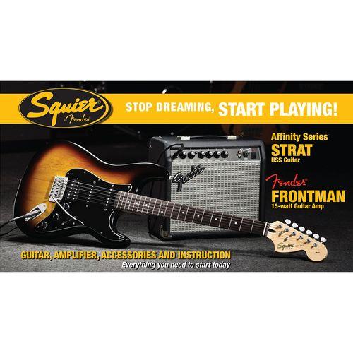 پکیج گیتار الکتریک فندر مدل Squier Affinity Series Stratocaster