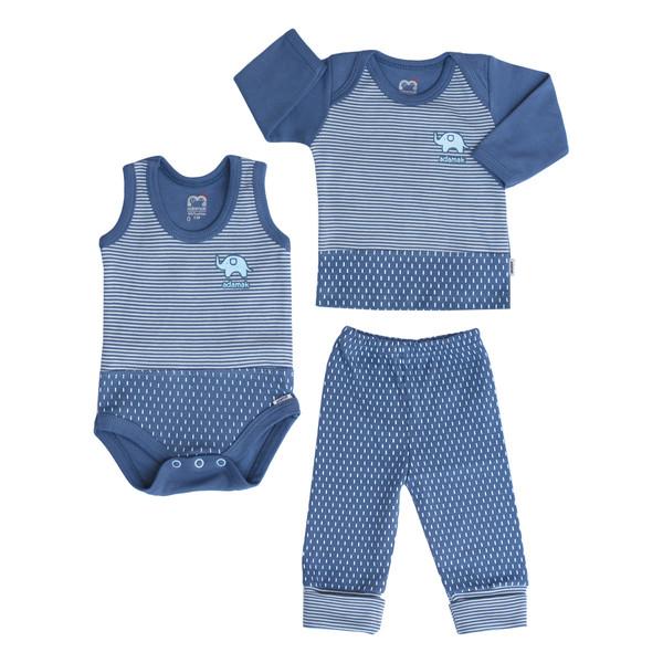 ست سه تکه لباس نوزادی پسرانه آدمک طرح فیل کوچولو