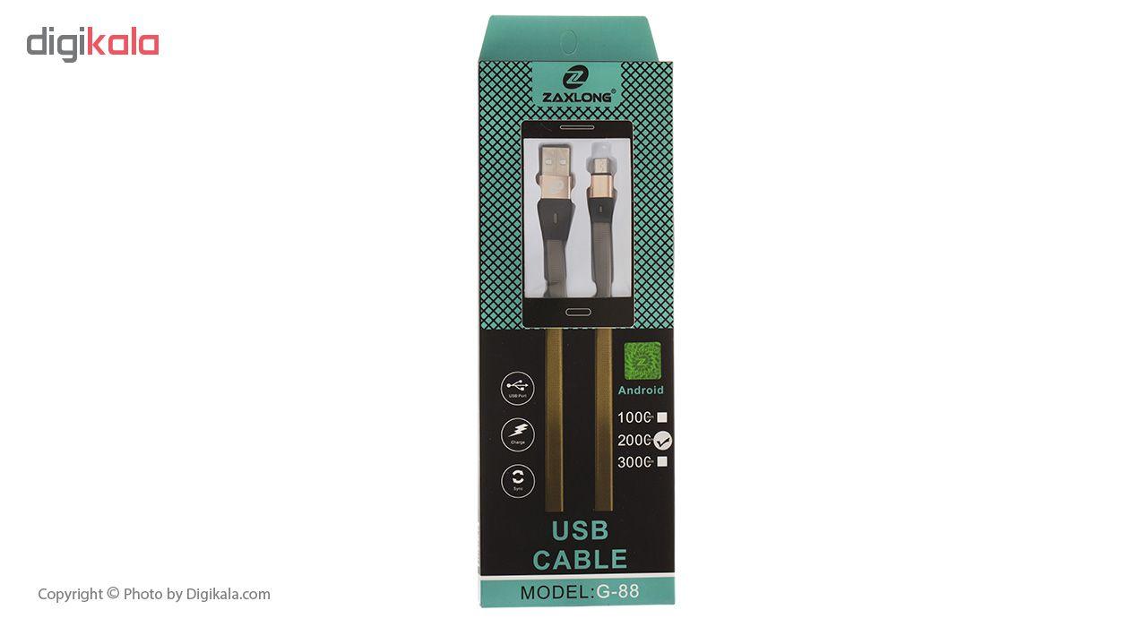 کابل تبدیل USB به microUSB زاکسلانگ مدل G-88 طول 2 متر
