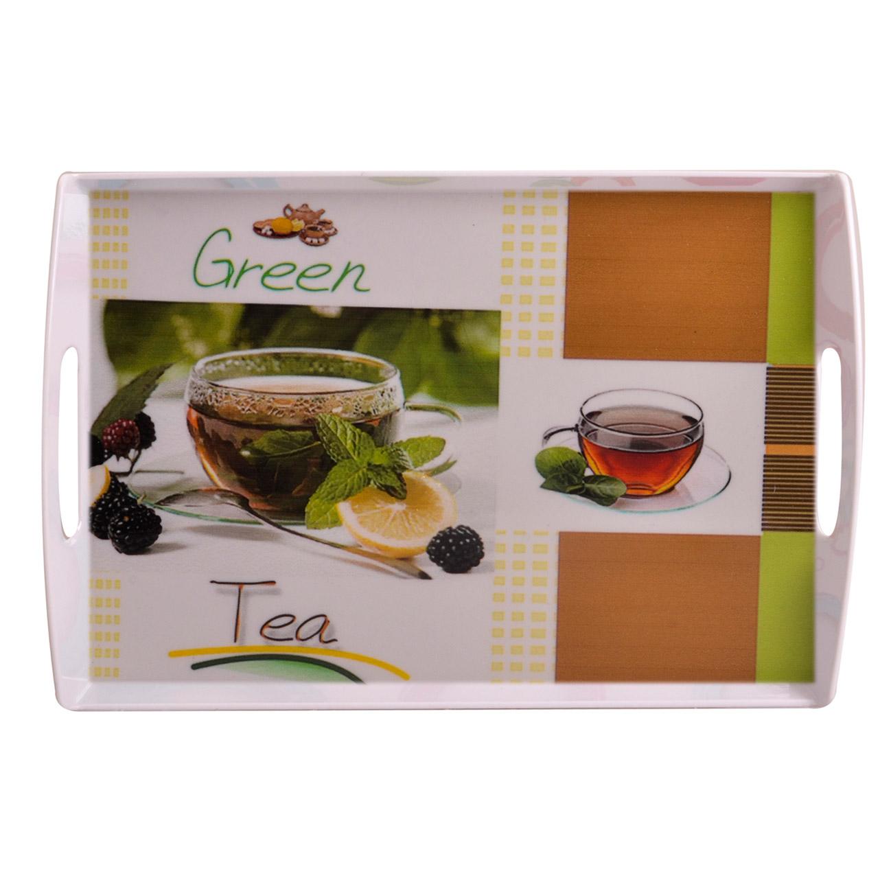 سینی مهروز طرح چای سبز کد 9991