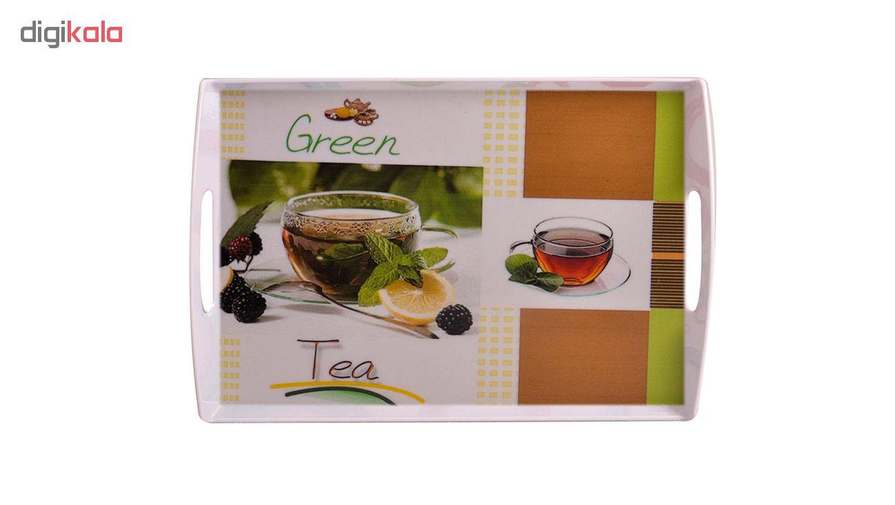سینی مهروز طرح چای سبز کد 9993