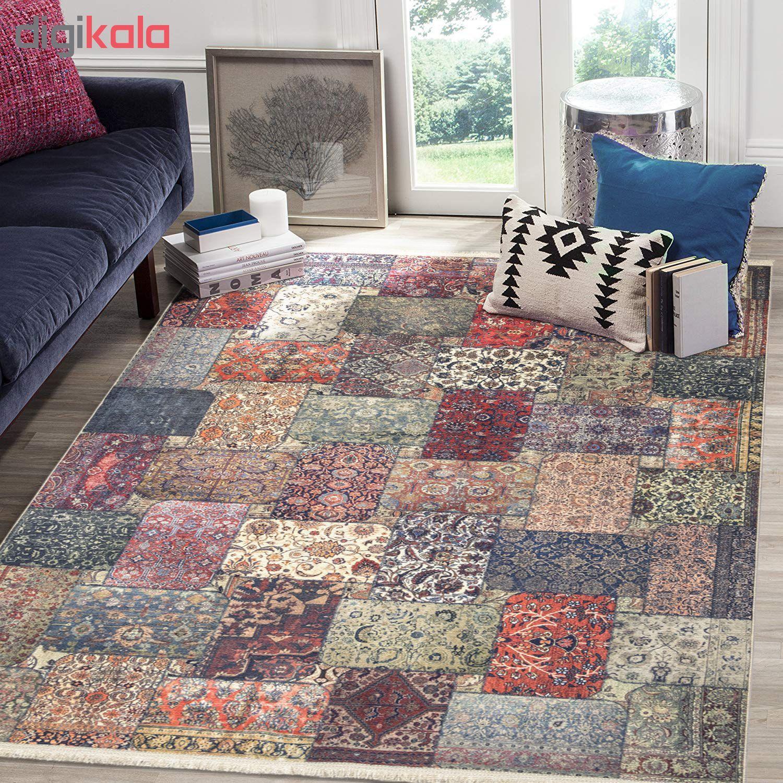 فرش ماشینی محتشم طرح چهل تکه کد 100501 main 1 2