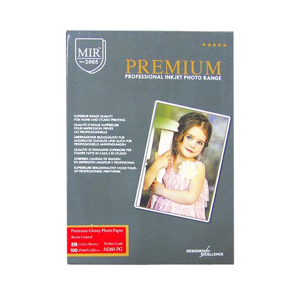 کاغذ چاپ گلاسه میر مدل M260-PG سایز 5R بسته 100 عددی