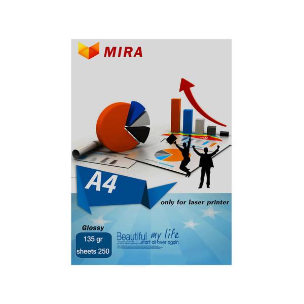 کاغذ چاپ عکس گلاسه میرا  کد M135-GP سایز A4 بسته 250 عددی