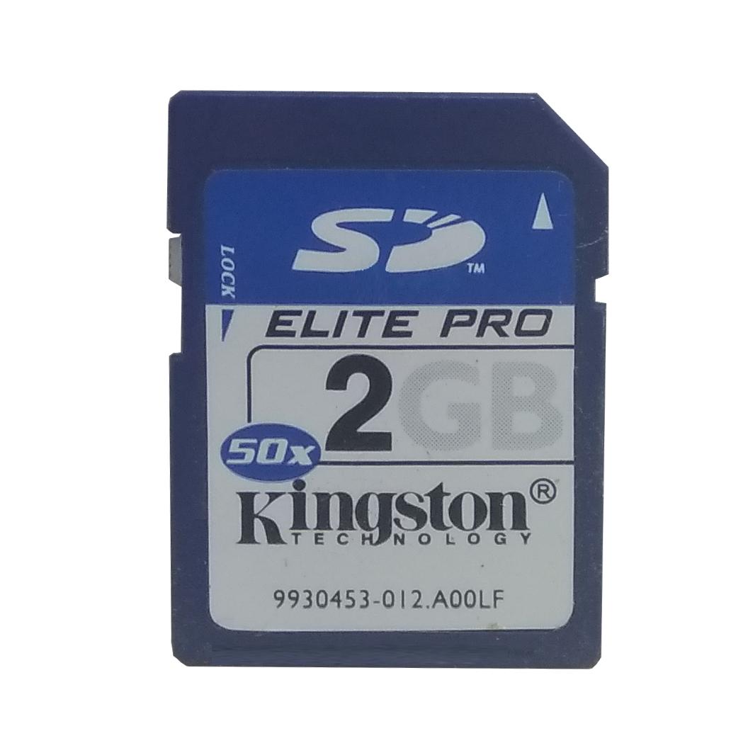 کارت حافظه SD کینگ استون مدل Elite-PRO  کلاس 6 استاندارد 50X سرعت 60Mbps ظرفیت 2 گیگابایت