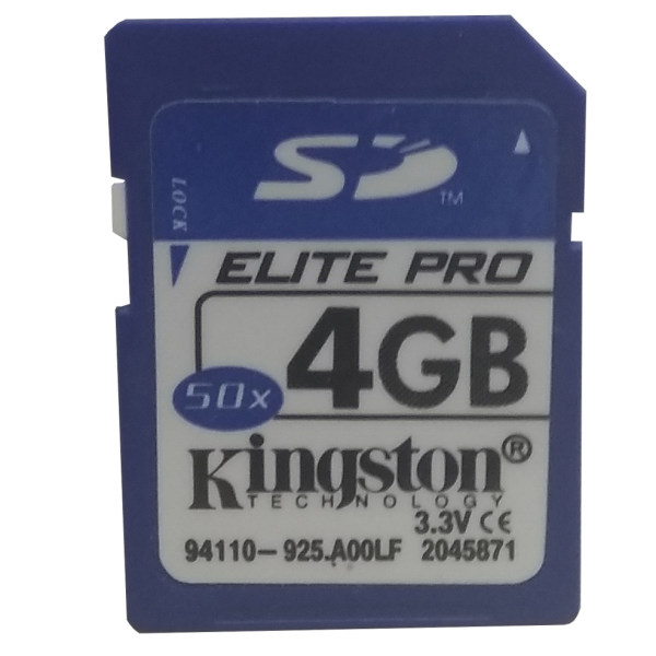 کارت حافظه SD کینگ استون مدل Elite-PRO کلاس 6 استاندارد 50X سرعت 60Mbps ظرفیت 4 گیگابایت
